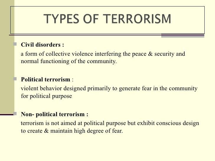 Write my essay about terrorism
