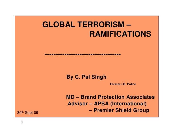 Terrorism And International Ramifications,