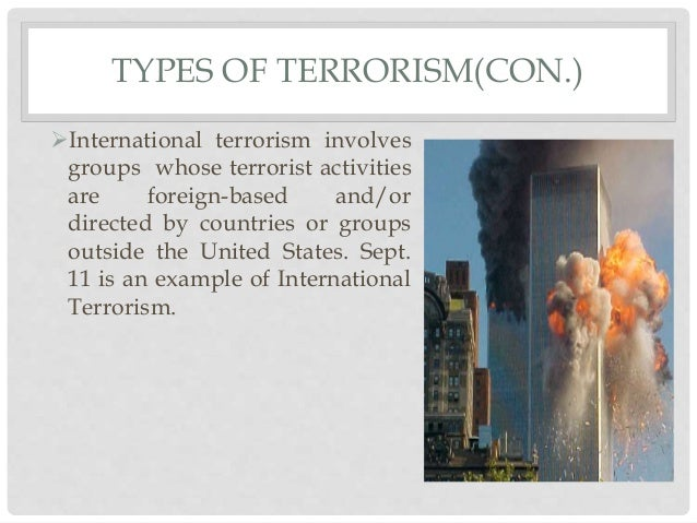 What are the causes and effects of terrorism?