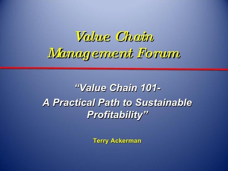 Terry ackerman    value chain 101