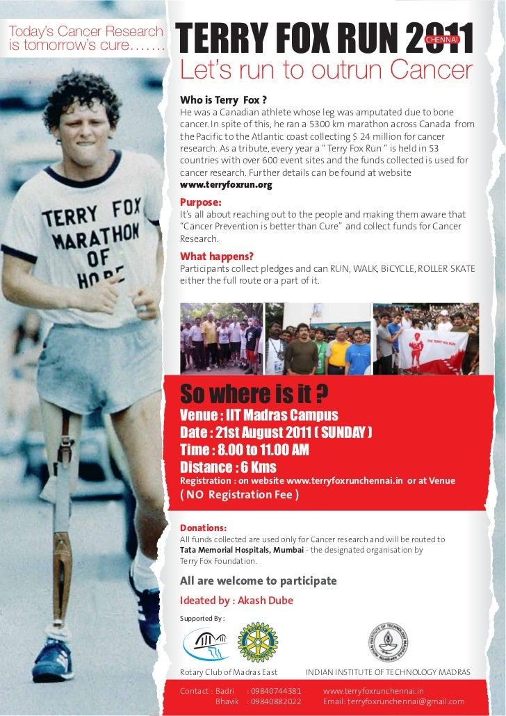 Terry fox poster 2011Terry Fox Poster