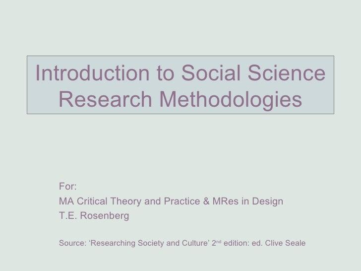 Terry Research Methodologies