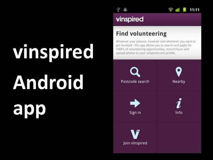 vinspired<br />Android app<br />