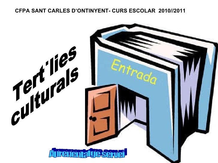 Tertúlies culturals Aprenentatge servei CFPA SANT CARLES D'ONTINYENT- CURS ESCOLAR  2010//2011