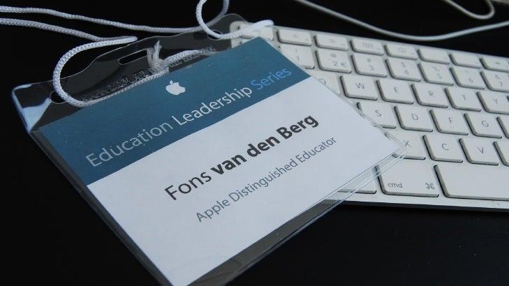 """""""Of je even een samenvattende terugblik kunt geven … in een uurtje""""               Apple Distinguished Educators"""