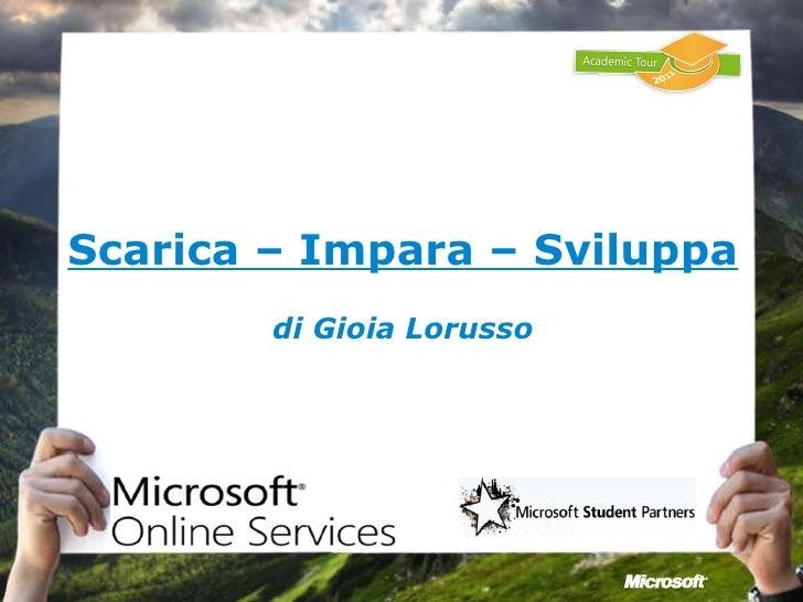 Servizi online della Microsoft per gli studenti