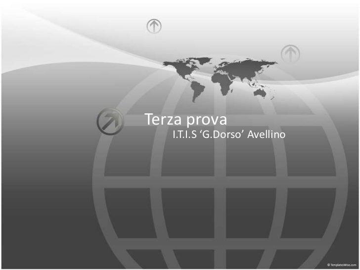 Terza prova   I.T.I.S 'G.Dorso' Avellino