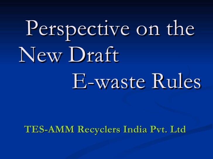Tes amm - e-waste technology & improvement
