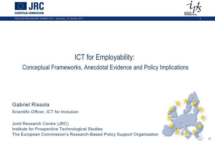 """Gabriel Rissola: """"ICT for employability"""""""