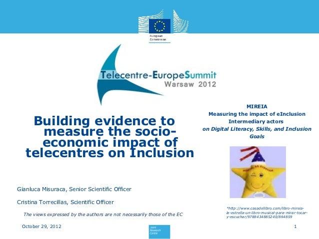 "Cristina Torrecillas: ""Building evidence to measure the socio-economic impact of Telecentres on e-inclusion"""