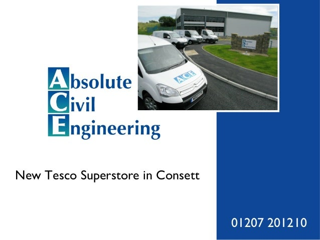 Tesco Superstore Development at Consett