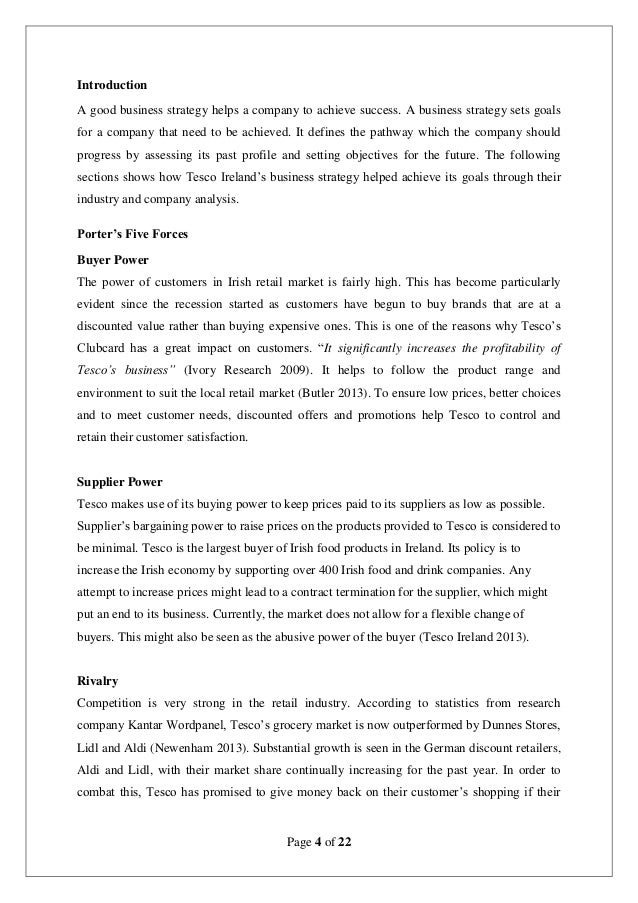 the history of tesco business essay Essay example: the history of tesco  business scheme tesco 's well established and consistent concern scheme has enabled it to beef  the history of tesco.