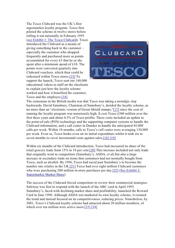 tesco case study questions and answers A case study of tesco plc scientific research consists of an investigation that seeks answers to a the questions are framed to analyze the research.