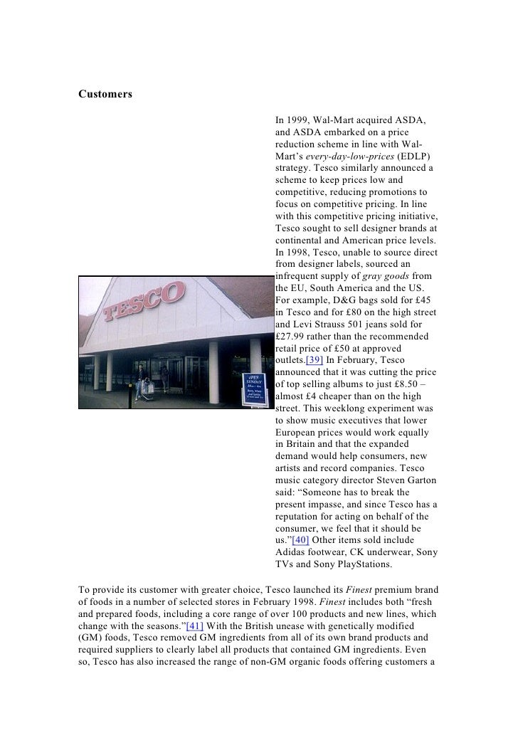 From paper/essay on tesco