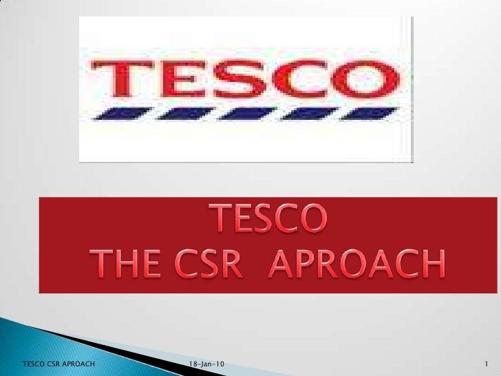 Tesco  The C.S.R Aproach Ethics