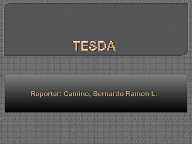 History of TESDA Short Courses Offered Other Special Programs
