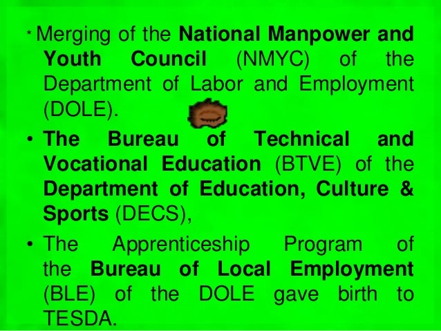 tesda and the development of the Looking for online definition of tesda or what tesda stands for technical education and skills development authority (philippines) tesda: technical education and skills development act of 1994 (philippines) want to thank tfd for its existence.
