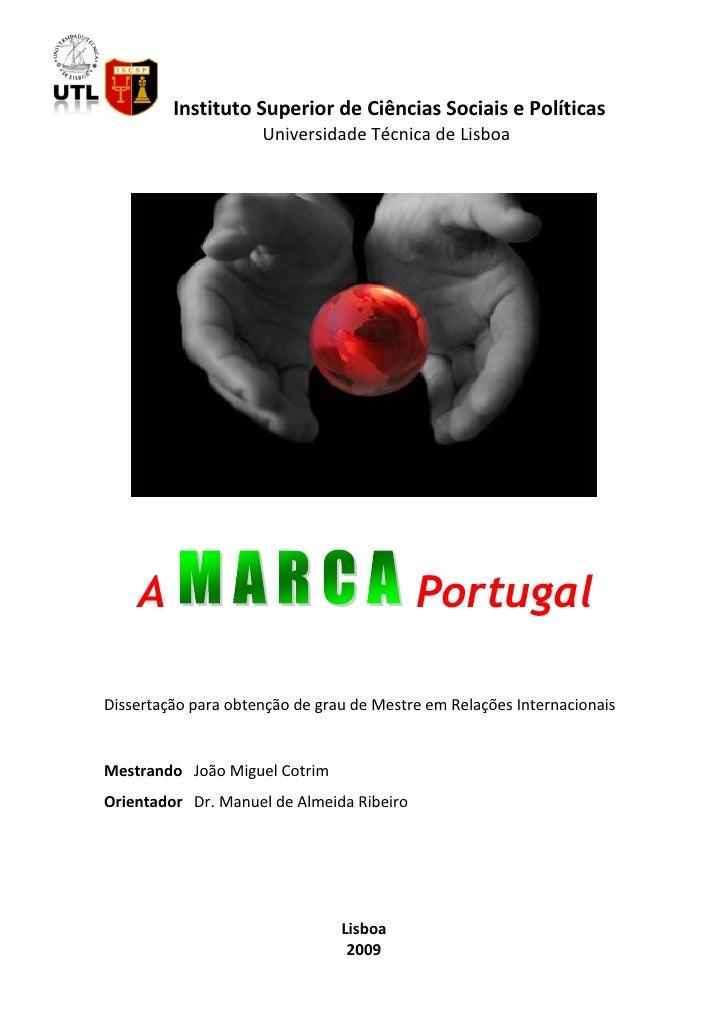 Instituto Superior de Ciências Sociais e Políticas                      Universidade Técnica de Lisboa         A          ...