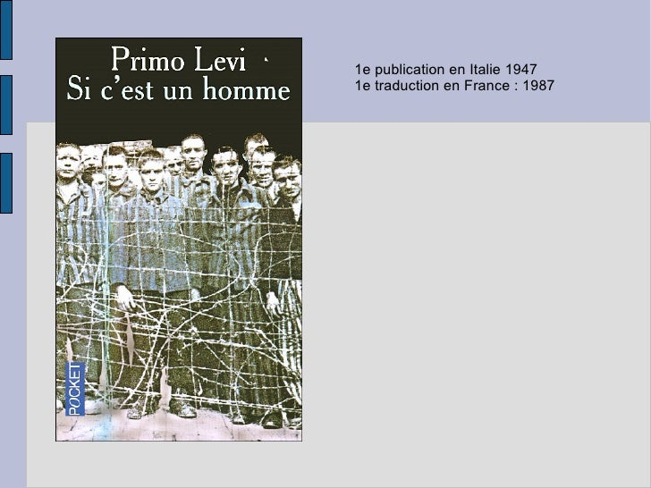 1e publication en Italie 1947 1e traduction en France : 1987