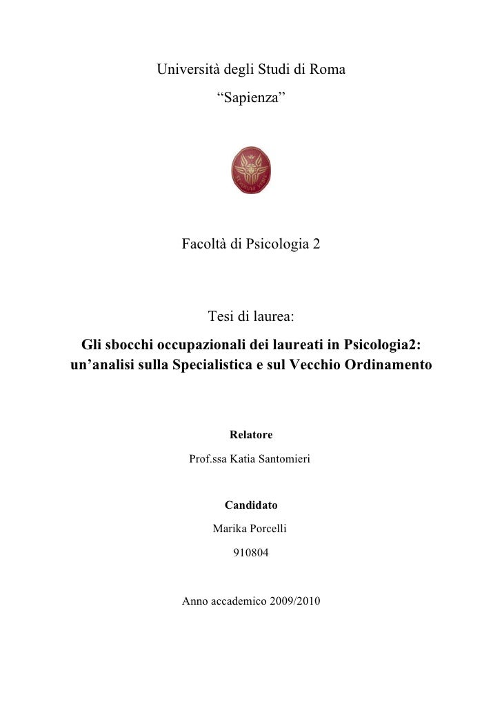 Tesi for Laurea magistrale design