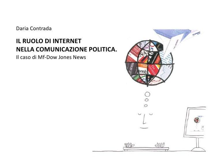 Il ruolo di Internet nella comunicazione politica