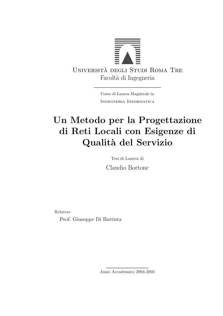 `            Universita degli Studi Roma Tre                    Facolt` di Ingegneria                          a          ...