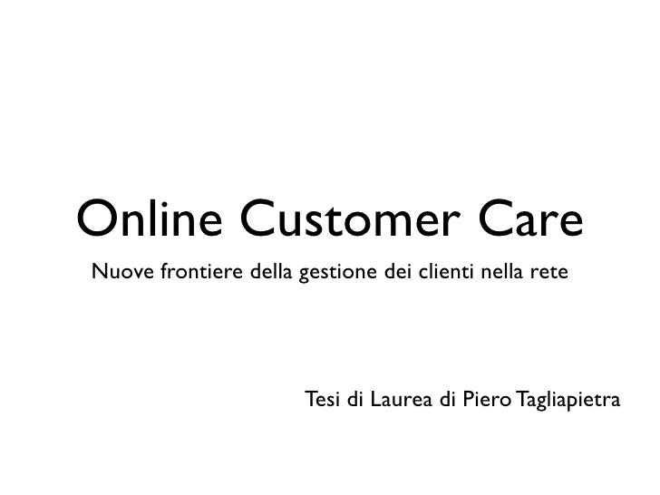 Piero Tagliapietra - Avatar e online customer care - Tesicamp