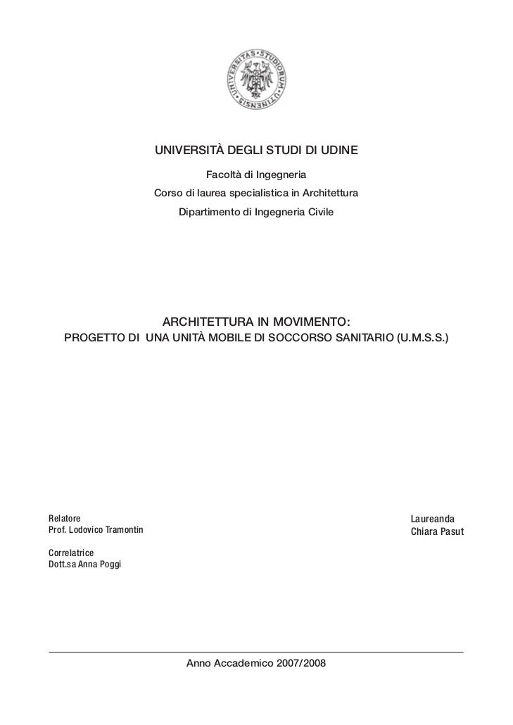 UNIVERSITÀ DEGLI STUDI DI UDINE                                       Facoltà di Ingegneria                            Cor...