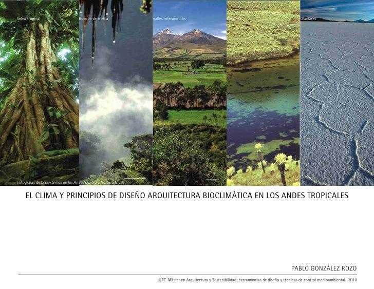 Selva tropical                     Bosque de niebla              Valles interandinos                      Páramos         ...