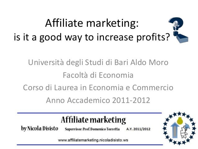 Affiliate marketing - thesis