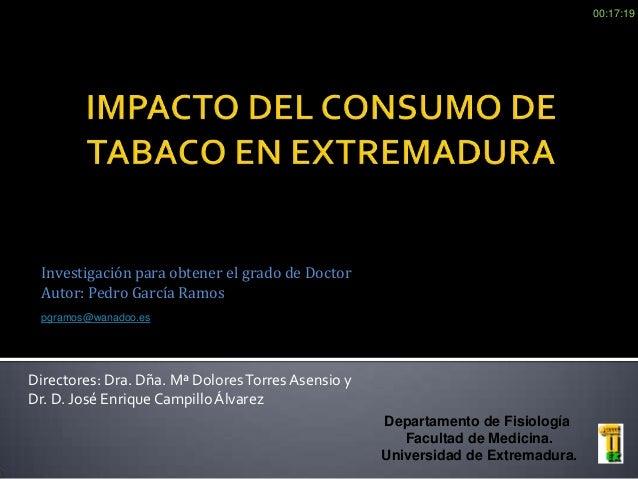 Tesis Doctoral sobre Tabaquismo en Extremadura