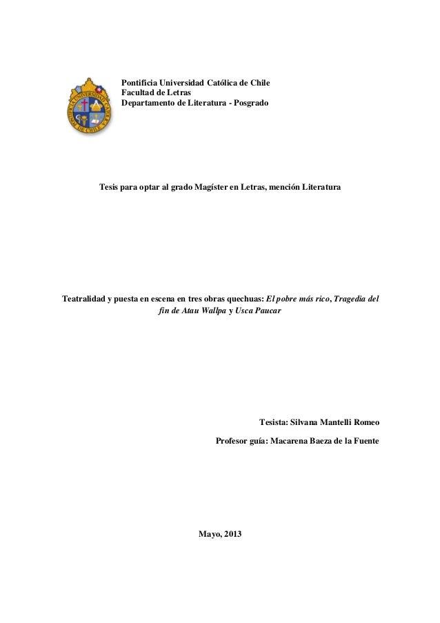 Pontificia Universidad Católica de ChileFacultad de LetrasDepartamento de Literatura - PosgradoTesis para optar al grado M...
