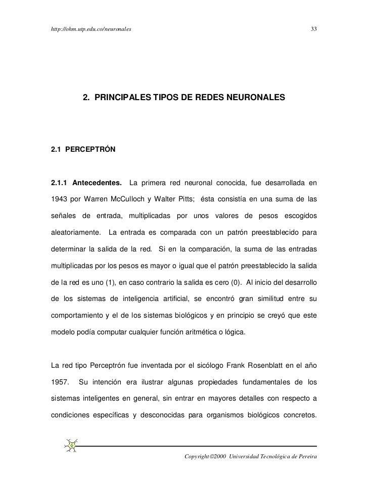 http://ohm.utp.edu.co/neuronales                                                            33            2. PRINCIPALES T...