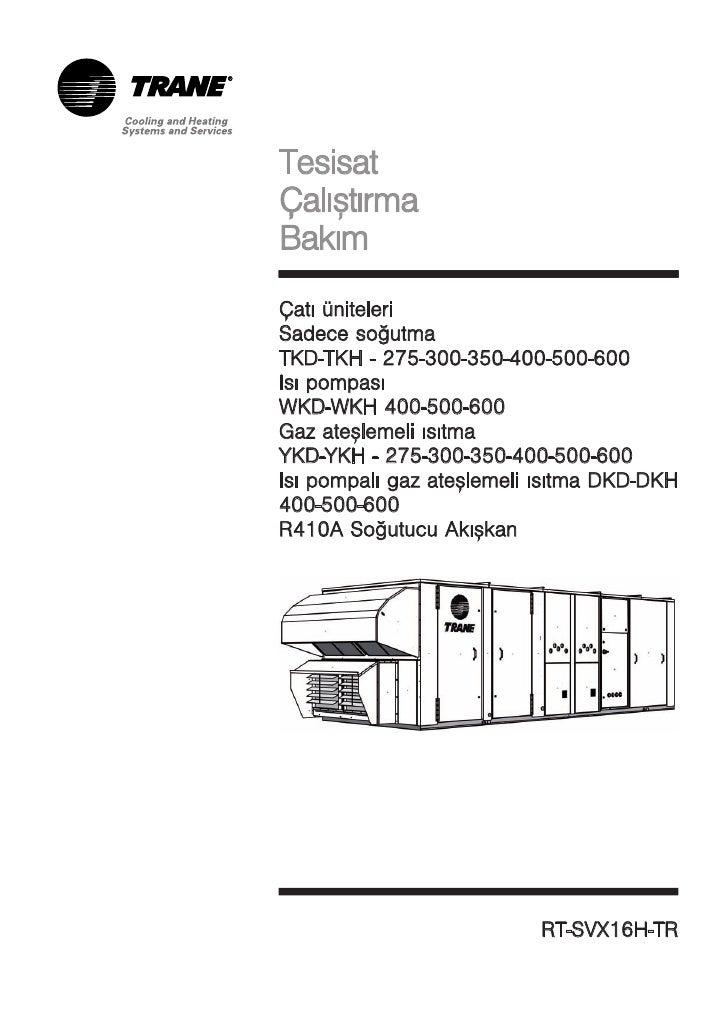 Tesisat calistirma bakim   cati uniteleri sadece sogutma tkd-tkh - 275-300-350-400-500-600 isi pompasi wkd-wkh 400-500-600 g