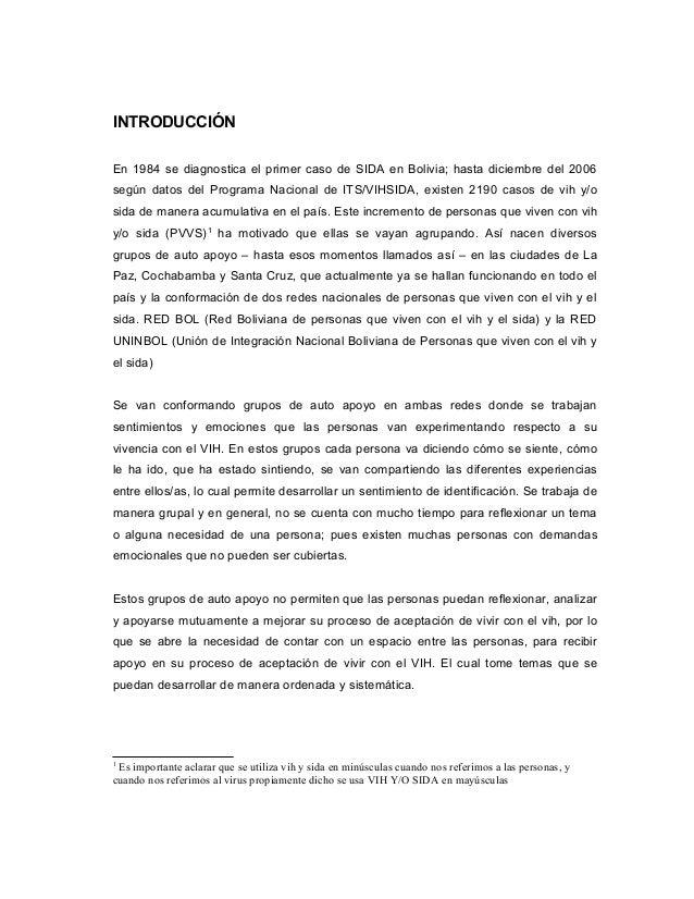 INTRODUCCIÓN En 1984 se diagnostica el primer caso de SIDA en Bolivia; hasta diciembre del 2006 según datos del Programa N...