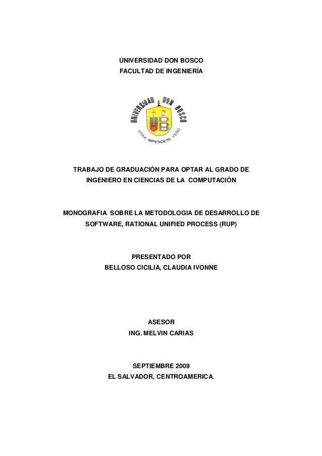 UNIVERSIDAD DON BOSCO FACULTAD DE INGENIERÍA TRABAJO DE GRADUACIÓN PARA OPTAR AL GRADO DE INGENIERO EN CIENCIAS DE LA COMP...