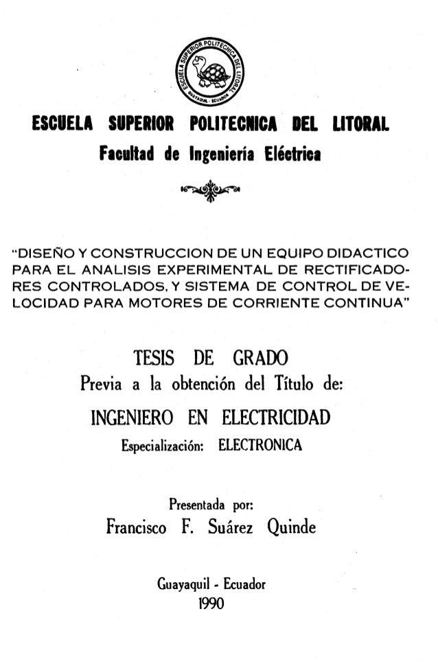 ESCUELA SUPERIOR POLlTECNlCA DEL LITORAL         F d t a d de Ingeniería Eléetriea                         m $-           ...
