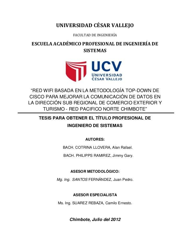 UNIVERSIDAD CÉSAR VALLEJO                  FACULTAD DE INGENIERÍA ESCUELA ACADÉMICO PROFESIONAL DE INGENIERÍA DE          ...