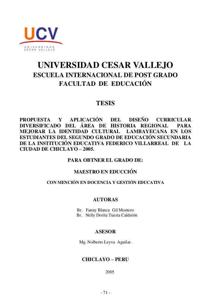 UCV U N I V E R S I D A D C É S A R V A L L E J O           UNIVERSIDAD CESAR VALLEJO       ESCUELA INTERNACIONAL DE POST ...