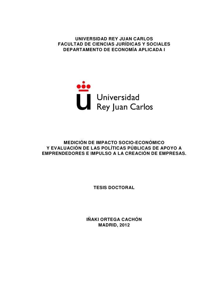 UNIVERSIDAD REY JUAN CARLOS     FACULTAD DE CIENCIAS JURÍDICAS Y SOCIALES       DEPARTAMENTO DE ECONOMÍA APLICADA I       ...