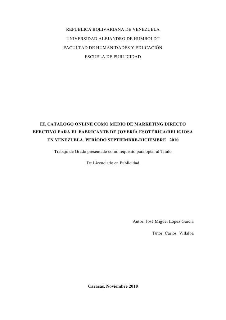 REPUBLICA BOLIVARIANA DE VENEZUELA<br />UNIVERSIDAD ALEJANDRO DE HUMBOLDT<br />FACULTAD DE HUMANIDADES Y EDUCACIÓN<br />ES...