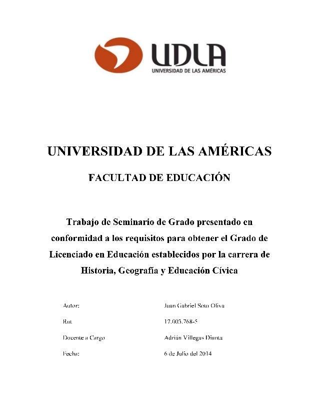Propuesta didáctica para la enseñanza del proceso de emancipación chilena mediante la creación de un juego didáctico
