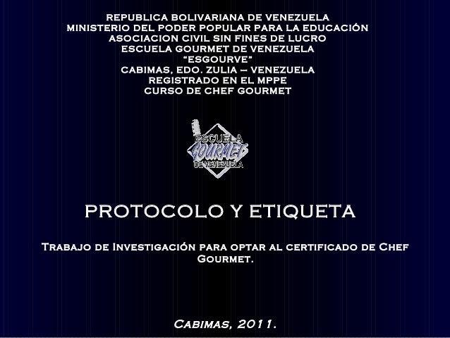 REPUBLICA BOLIVARIANA DE VENEZUELA   MINISTERIO DEL PODER POPULAR PARA LA EDUCACIÓN          ASOCIACION CIVIL SIN FINES DE...