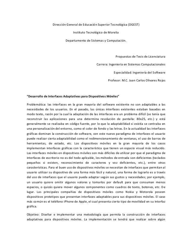 DirecciónGeneraldeEducaciónSuperiorTecnológica(DGEST) InstitutoTecnológicodeMorelia DepartamentodeSistemasy...