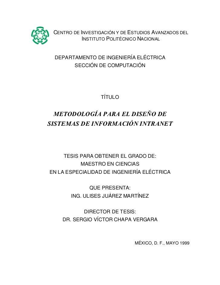 CENTRO DE INVESTIGACIÓN Y DE ESTUDIOS AVANZADOS DEL            INSTITUTO POLITÉCNICO NACIONAL DEPARTAMENTO DE INGENIERÍA E...