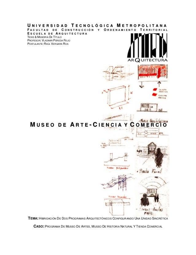 Tesis de Proyecto de Título - Museo de Artes, Ciencias y Comercio