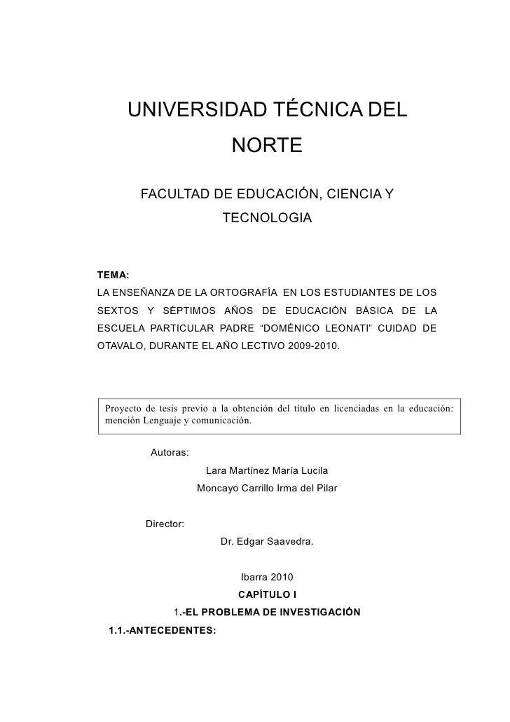 UNIVERSIDAD TÉCNICA DEL                              NORTE         FACULTAD DE EDUCACIÓN, CIENCIA Y                       ...