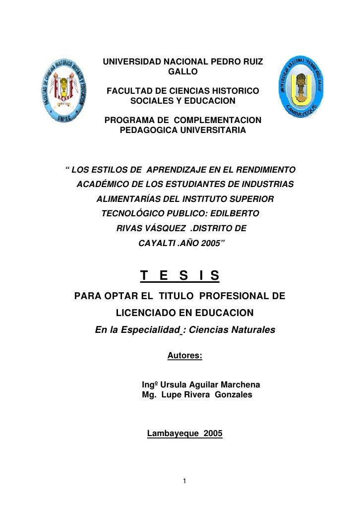 Tesis para Optar Título Profesional de Licenciada en Educación