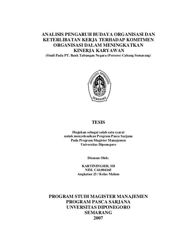 Contoh proposal tesis manajemen keuangan