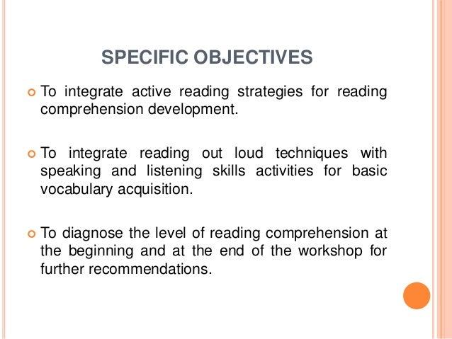 Comprehension dissertation reading skill technique